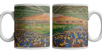 halliwell jones stadium on matchday mug (1)